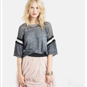 Free People Watch Me Shine' Burnout Tee Small